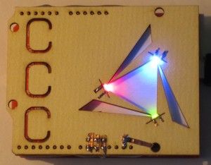 Laser cut side lit LEDs